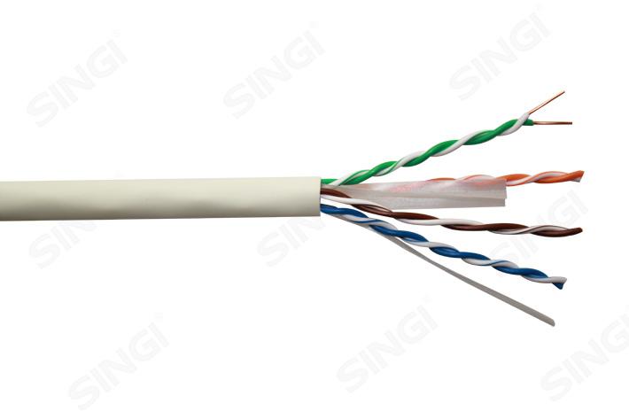 六类4对非屏蔽低烟无卤护套网络线 UTP型