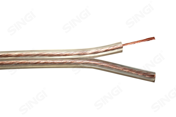 RVH型铜导体扁平透明聚氯乙烯绝缘音响线