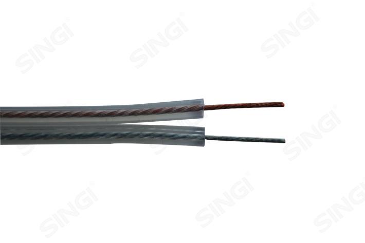 RVH型金/银导体扁平透明聚氯乙烯绝缘音响线