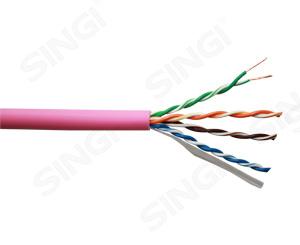 超五类4对非屏蔽低烟无卤护套网络线 UTP型
